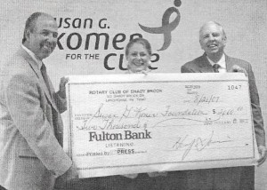 2007-08-21 - Henry and Bob Present $2,000 to Susan G Korman Foundation (a) - Photo